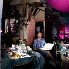 first story : tony hornecker : the pale blue door : restaurant/home :london
