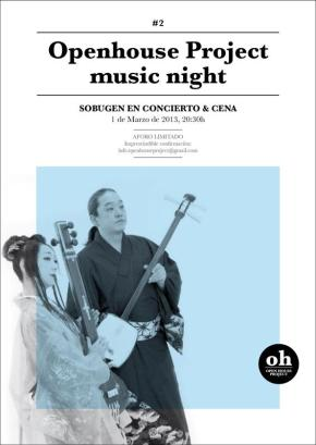 Music Night #2 : Openhouse Project : concert : Sobugen : barcelona