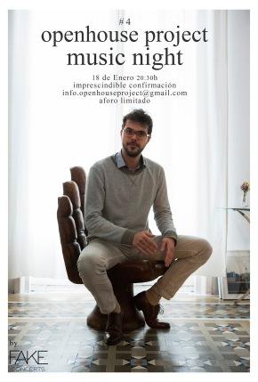 Music Night #4 : Openhouse Project : concert & dinner : Feliu Ribera Riera : 18th January :barcelona