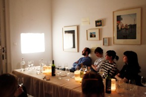 "Thematic dinner for the closure of the exhibition ""somewhere in teksas-land"" 8th May"