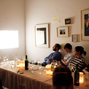 """Thematic dinner for the closure of the exhibition """"somewhere in teksas-land"""" 8thMay"""